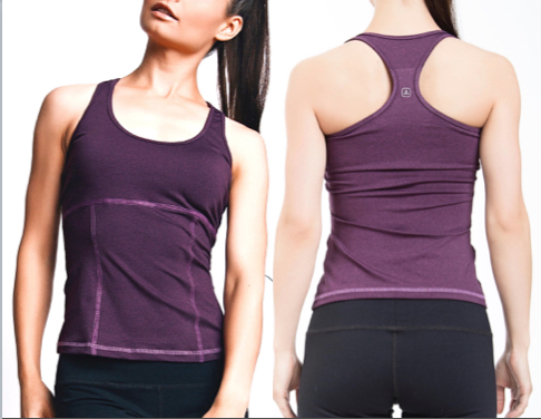 LeaLee Apparel TBP104 Womens Begonia Tank Top Purple - Large