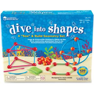Learning Resources LRN1773 Dive Shapes Sea-Build Geometry Set
