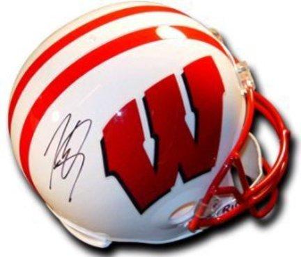 Lee Evans Wisconsin Badgers NCAA Autographed Mini Helmet