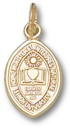 "Lehigh Mountain Hawks ""Shield"" 1/2"" Charm - 10KT Gold Jewelry"