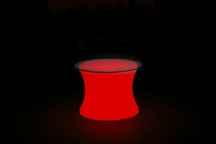 Lighted Low Boy Cocktail Table (Indoor / Outdoor - No Bulb) from Pool Shot