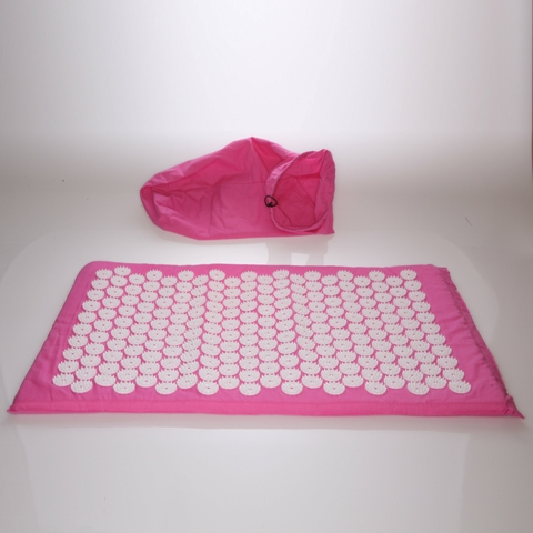 Living Healthy Products ATM-bag-07 Acupuncture Mat with Bag in Pink