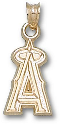 "Los Angeles Angels of Anaheim 5/8"" ""A"" Pendant - 10KT Gold Jewelry"