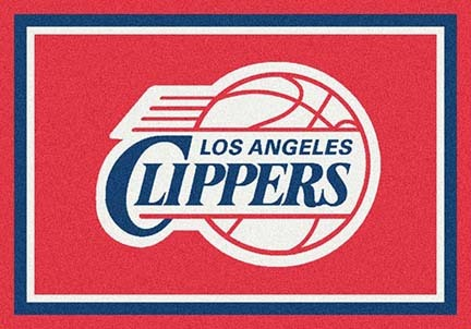 """Los Angeles Clippers 3' 10"""" x 5' 4"""" Team Spirit Area Rug"""