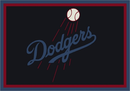 "Los Angeles Dodgers 3'10"" x 5'4"" Team Spirit Area Rug"