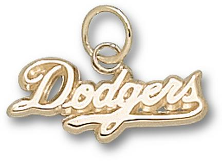 "Los Angeles Dodgers ""Dodgers"" 5/16"" Charm - 10KT Gold Jewelry"