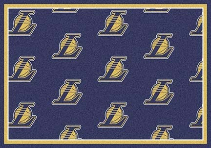 "Los Angeles Lakers 2' 1"" x 7' 8"" Team Repeat Area Rug Runner"