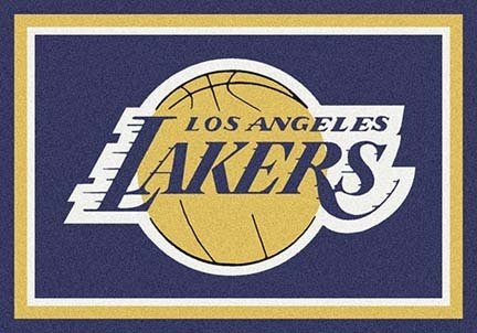"Los Angeles Lakers 3' 10"" x 5' 4"" Team Spirit Area Rug"