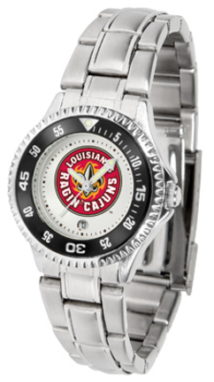 Louisiana (Lafayette) Ragin' Cajuns Competitor Ladies Watch with Steel Band