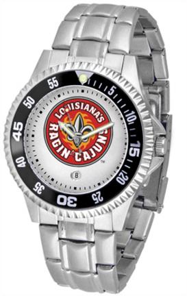 Louisiana (Lafayette) Ragin' Cajuns Competitor Men's Watch with Steel Band