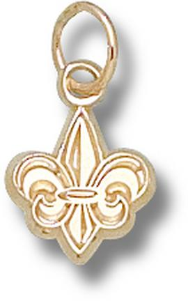 "Louisiana (Lafayette) Ragin' Cajuns ""Fleur De Lis"" 3/8"" Charm - 14KT Gold Jewelry"