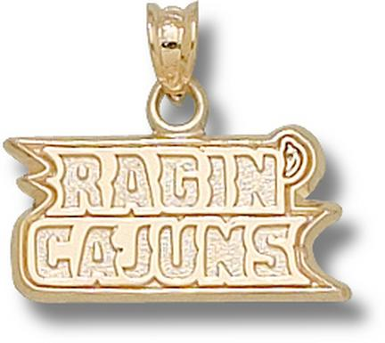 "Louisiana (Lafayette) Ragin' Cajuns ""Ragin' Cajuns"" Pendant - 10KT Gold Jewelry"