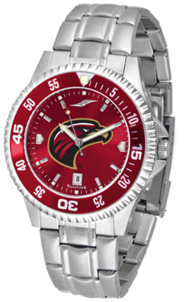 Louisiana (Monroe) Warhawks Competitor AnoChrome Men's Watch with Steel Band and Colored Bezel