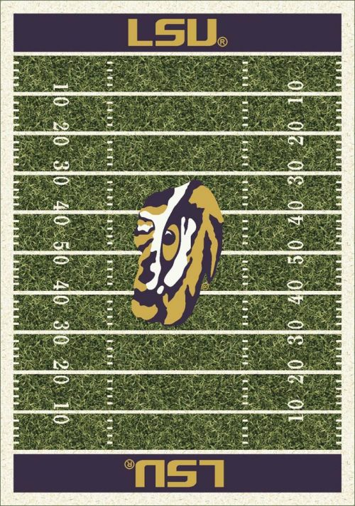 "Louisiana State (LSU) Tigers 3' 10"" x 5' 4"" Home Field Area Rug"