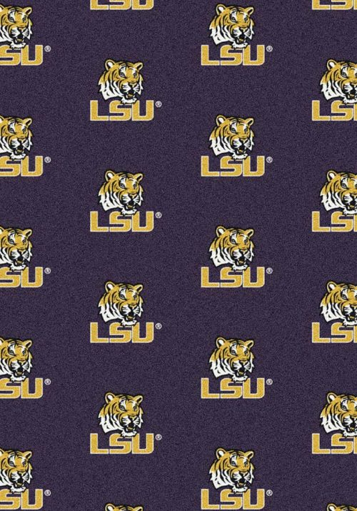"Louisiana State (LSU) Tigers 3' 10"" x 5' 4"" Team Repeat Area Rug"