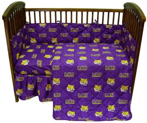 Louisiana State (LSU) Tigers Baby Crib Set