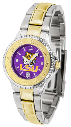 Louisiana State (LSU) Tigers Competitor AnoChrome Ladies Watch with Two-Tone Band