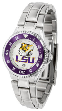 Louisiana State (LSU) Tigers Competitor Ladies Watch with Steel Band
