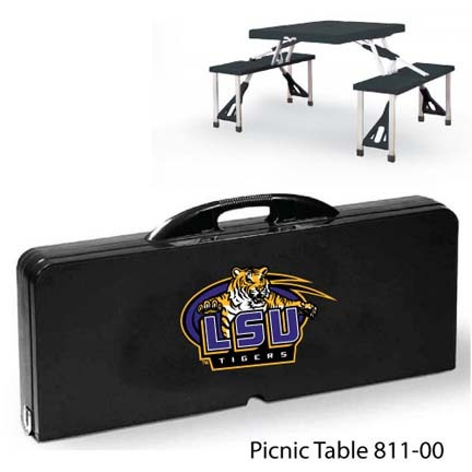 Louisiana State (LSU) Tigers Portable Folding Table and Seats