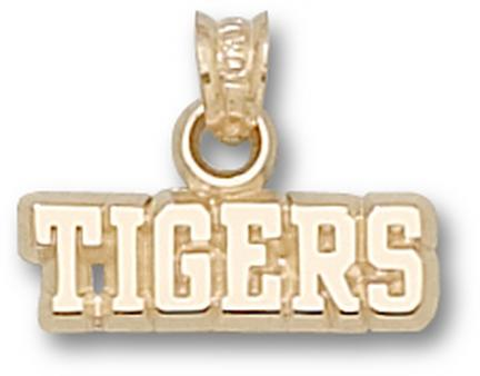 "Louisiana State (LSU) Tigers ""Tigers"" Pendant - 10KT Gold Jewelry"