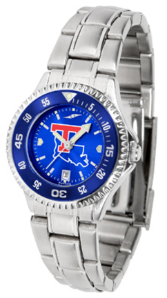 Louisiana Tech Bulldogs Competitor AnoChrome Ladies Watch with Steel Band and Colored Bezel
