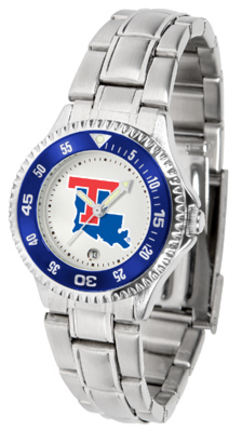 Louisiana Tech Bulldogs Competitor Ladies Watch with Steel Band