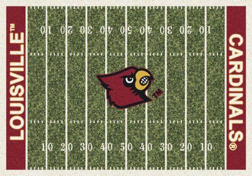 "Louisville Cardinals 3' 10"" x 5' 4"" Home Field Area Rug"