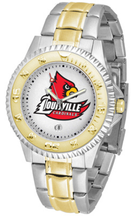 Louisville Cardinals Competitor Two Tone Watch