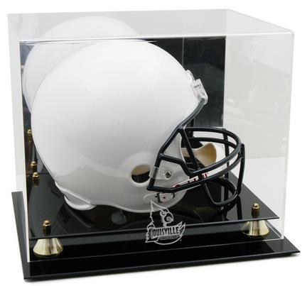 Louisville Cardinals Logo Golden Classic Full Size Helmet Display Case
