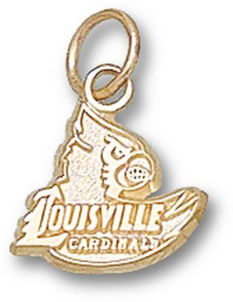 "Louisville Cardinals ""Louisville Cardinals Head"" 3/8"" Charm - 14KT Gold Jewelry"