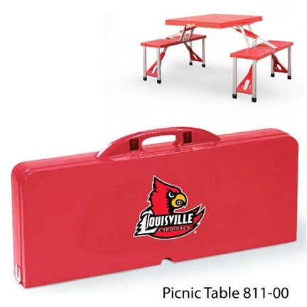 Louisville Cardinals Portable Folding Table and Seats