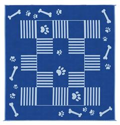 MINGS MARK DA3 Dog Paw Bone BlueWhite 9x9