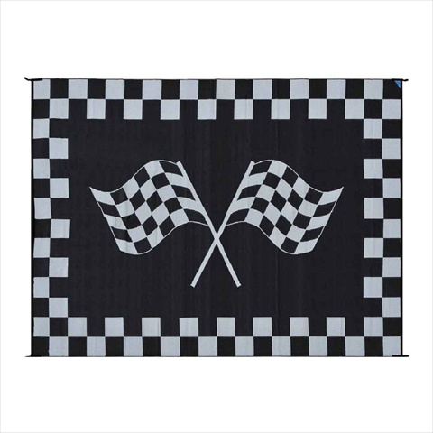 MINGS MARK RF9121 Racing Mat 9x12 Black White