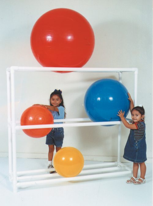 MJM International 7010 Ball Rack Stationary Rack Without Casters Each