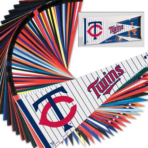 "MLB Team Pennants 12"" x 30"" - Set of 30 Major League Baseball Teams"