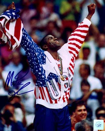 "Magic Johnson Autographed ""1992 Olympic Pose"" 8"" x 10"" Color Photograph (Unframed)"