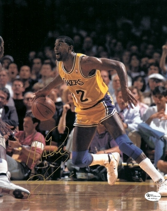 "Magic Johnson Autographed Los Angeles Lakers 8"" x 10"" Photograph (Unframed)"
