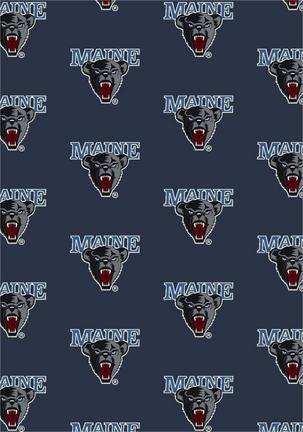 "Maine Black Bears 3' 10"" x 5' 4"" Team Repeat Area Rug"