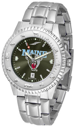 Maine Black Bears Competitor AnoChrome Men's Watch with Steel Band