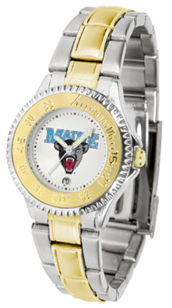 Maine Black Bears Competitor Ladies Watch with Two-Tone Band