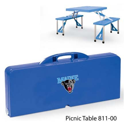 Maine Black Bears Portable Folding Table and Seats