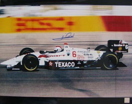"Mario Andretti Autographed ""Texaco"" 16"" x 20"" Photograph (Unframed)"