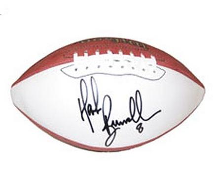 Mark Brunell, Autographed Official Wilson NFL Robby Single White Panel Football