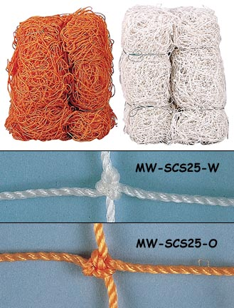 Markwort Orange 2.5 mm Soccer Goal Net - 1 Pair