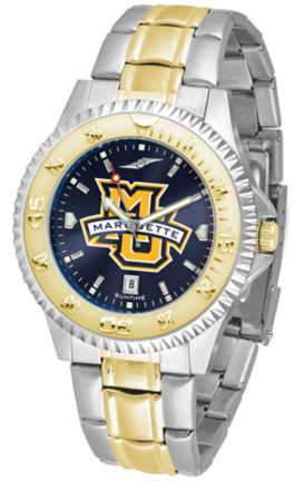 Marquette Golden Eagles Competitor AnoChrome Two Tone Watch