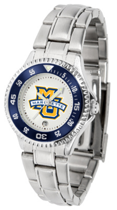 Marquette Golden Eagles Competitor Ladies Watch with Steel Band
