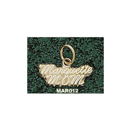 "Marquette Golden Eagles Script ""Marquette Mom"" 1/4"" Charm - 14KT Gold Jewelry"