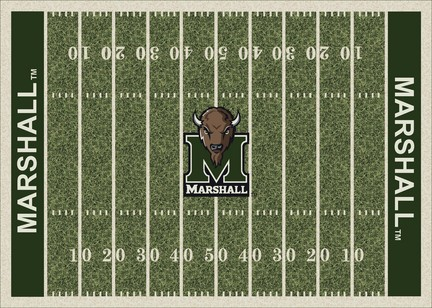 "Marshall Thundering Herd 3' 10"" x 5' 4"" Home Field Area Rug"