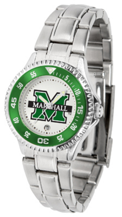 Marshall Thundering Herd Competitor Ladies Watch with Steel Band