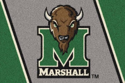 "Marshall Thundering Herd ""M"" 3'10""x 5'4"" Team Spirit Area Rug"